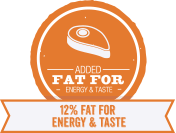 Added fat for energy and taste for Adult Dogs