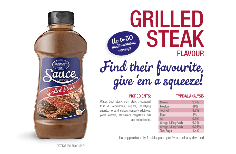 Grilled Steak Flavour Sauce for Dogs