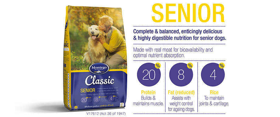 Classic Range for Senior Dogs