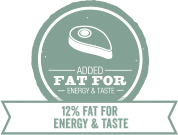 Added fat for energy and taste for Large Breed Puppy